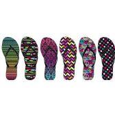 Wholesale Footwear LADIES ASSORTED NUBUCK FLIP FLOPS WITH RHINESTONE UPPER
