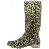 Wholesale Footwear Ladies Plaid and Leopard Rain Boots - Assorted 2 styles