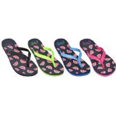 Wholesale Footwear Ladies Watermelon Flip Flops