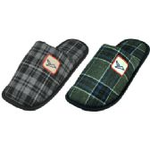 Wholesale Footwear Men's Plaid House Slippers