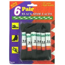 Wholesale Footwear Black shoe laces