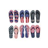 Wholesale Footwear Men's American Flag Flip Flops
