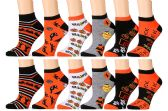 Wholesale Footwear Excell Womans Halloween Design Printed Ankle Socks
