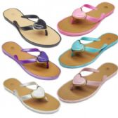 Wholesale Footwear Womans Fashion PVC Flip Flop With Heart Embellishment