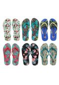 Wholesale Footwear Womens Printed Flip Flops
