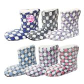 Wholesale Footwear Lady's's Fuzzy Boots Size 7/8-9/11