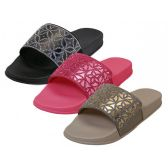 Wholesale Footwear Women's Rhinestone Top Slide Sandals