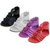 Wholesale Footwear Girl's Flower Top Gladiator Sandals