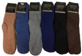 Wholesale Footwear Men's Solid Color Fuzzy Sock