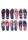 Wholesale Footwear Womens Flip Flops Assorted American Flag