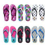 Wholesale Footwear Womens Flip Flops Assorted Abstract Pattern