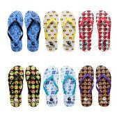 Wholesale Footwear Womens Flip Flops Assorted Emojis