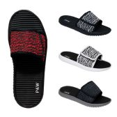 Wholesale Footwear Men's Velcro Slippers Assorted Colors