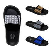 Wholesale Footwear Mens Velcro Slides Diamonds Assorted Colors