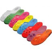 Wholesale Footwear Women's Mesh Upper With Sequin Comfort Slippers Sizes 5-10