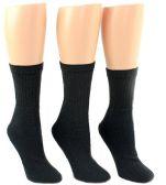 Wholesale Footwear 24 Pairs Pack of WSD Women's Tube Socks, Value Pack, Athletic Socks (Black, 9-11)