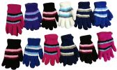 Wholesale Footwear Yacht & Smith Women's Striped Soft Fuzzy Winter Gloves
