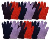 Wholesale Footwear Yacht & Smith Women's Soft Warm And Fuzzy Solid Color Winter Gloves