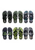 Wholesale Footwear Men's Assorted Printed Flip Flops