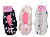 Wholesale Footwear 3 Pair Value Pack Ladies Butter Toes Slipper Sock Non-Slip Booties