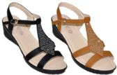 Wholesale Footwear Womens Sandal With Rhinestone Assorted Color