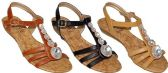 Wholesale Footwear WOMEN'S ASSORTED COLOR SANDAL RHINESTONES