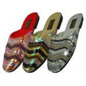Wholesale Footwear Women's Sequin Sandal Assorted Color