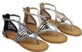 Wholesale Footwear Ladies' Fashion Sandals In Gold