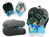 Wholesale Footwear Men's Printed Flip Flops Sizes 7-12