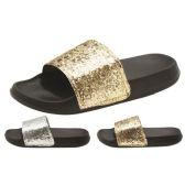 Wholesale Footwear Eva Women Glittery slippers