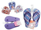 Wholesale Footwear Girls Assorted Print Flip Flops