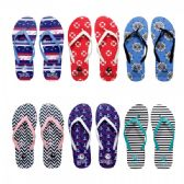 Wholesale Footwear Women's Flip Flops Assorted Prints and Colors