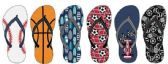 Wholesale Footwear Boys Sport Themed Flip Flops