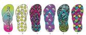 Wholesale Footwear GIRLS TROPICAL INSPIRED BASIC FLIP FLOPS