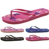 Wholesale Footwear Women's Butterfly Printed Flip Flops