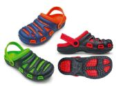 Wholesale Footwear Men's Two Tone Garden Clogs with/ Adjustable Straps - Assorted Colors