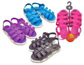 Wholesale Footwear Girl's Gladiator Sandals W/ Side Buckle - Assorted Colors