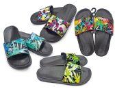 Wholesale Footwear Women's Slide Sandals with/ Paint Print Straps