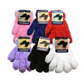Wholesale Footwear Kids Furry Gloves Assorted Colors
