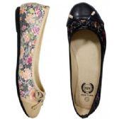 Wholesale Footwear Women's Floral Print Flats