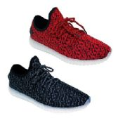 Wholesale Footwear Women's LED Sneakers in Red