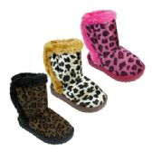Wholesale Footwear Girl's Assorted Color Animal Print Boots