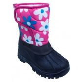 Wholesale Footwear Girls' Floral and Black Winter Boot