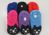 Wholesale Footwear Girls Knit Slippers Cat Slippers
