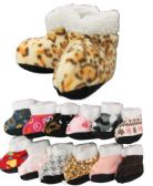 Wholesale Footwear Girls Printed Slipper Boots