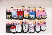 Wholesale Footwear Girls Printed Slipper Socks