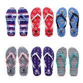 Wholesale Footwear Women's Assorted Print Flip Flops