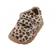 Wholesale Footwear Toddlers Leopard Printed Velcro Upper Sneakers
