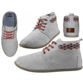 Wholesale Footwear Women's Hi-Top Canvas Shoes ( *White Color )
