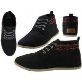 Wholesale Footwear Women's Hi-Top Canvas Shoes ( *Black Color )